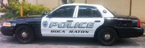 boca raton police car